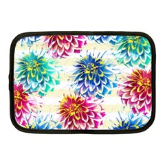 Colorful Dahlias Netbook Case (Medium)