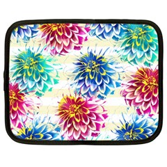 Colorful Dahlias Netbook Case (Large)