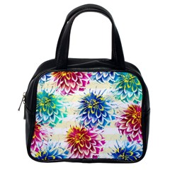 Colorful Dahlias Classic Handbags (One Side)