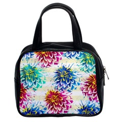 Colorful Dahlias Classic Handbags (2 Sides)