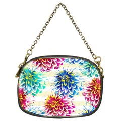 Colorful Dahlias Chain Purses (One Side)