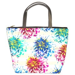 Colorful Dahlias Bucket Bags