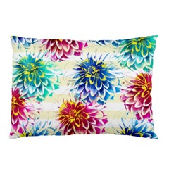 Colorful Dahlias Pillow Case by DanaeStudio