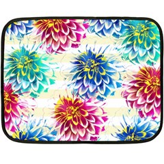 Colorful Dahlias Fleece Blanket (Mini)
