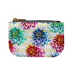 Colorful Dahlias Mini Coin Purses