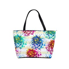Colorful Dahlias Shoulder Handbags