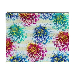 Colorful Dahlias Cosmetic Bag (XL)