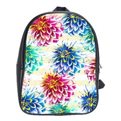 Colorful Dahlias School Bags(large)  by DanaeStudio