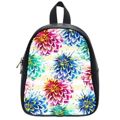 Colorful Dahlias School Bags (Small)