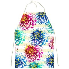 Colorful Dahlias Full Print Aprons