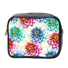 Colorful Dahlias Mini Toiletries Bag 2 Side by DanaeStudio