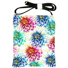 Colorful Dahlias Shoulder Sling Bags