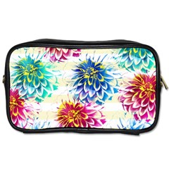 Colorful Dahlias Toiletries Bags by DanaeStudio
