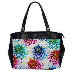 Colorful Dahlias Office Handbags