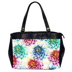 Colorful Dahlias Office Handbags (2 Sides)  by DanaeStudio