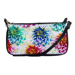 Colorful Dahlias Shoulder Clutch Bags