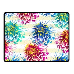 Colorful Dahlias Fleece Blanket (Small)