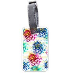 Colorful Dahlias Luggage Tags (one Side)  by DanaeStudio