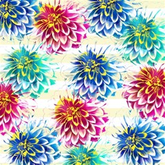 Colorful Dahlias Magic Photo Cubes