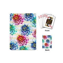Colorful Dahlias Playing Cards (Mini)
