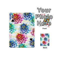 Colorful Dahlias Playing Cards 54 (mini)  by DanaeStudio