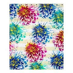 Colorful Dahlias Shower Curtain 60  x 72  (Medium)