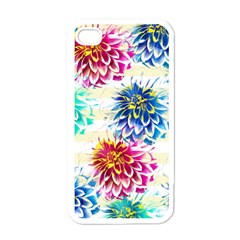 Colorful Dahlias Apple iPhone 4 Case (White)
