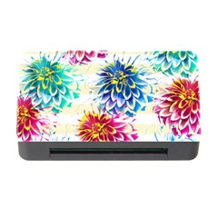 Colorful Dahlias Memory Card Reader With Cf by DanaeStudio