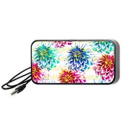 Colorful Dahlias Portable Speaker (Black)