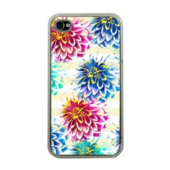 Colorful Dahlias Apple iPhone 4 Case (Clear)