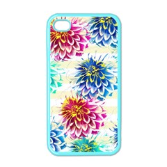 Colorful Dahlias Apple iPhone 4 Case (Color)