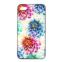 Colorful Dahlias Apple iPhone 4/4s Seamless Case (Black)