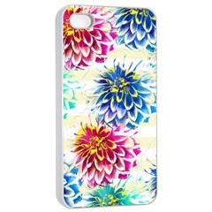 Colorful Dahlias Apple iPhone 4/4s Seamless Case (White)
