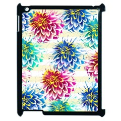 Colorful Dahlias Apple iPad 2 Case (Black)