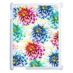 Colorful Dahlias Apple iPad 2 Case (White)