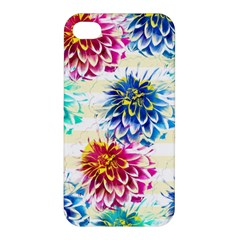 Colorful Dahlias Apple iPhone 4/4S Hardshell Case