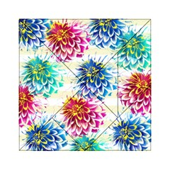 Colorful Dahlias Acrylic Tangram Puzzle (6  X 6 ) by DanaeStudio