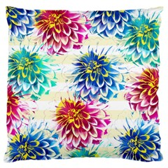 Colorful Dahlias Large Cushion Case (Two Sides)