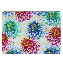 Colorful Dahlias Cosmetic Bag (XXL)