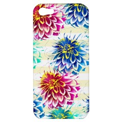 Colorful Dahlias Apple Iphone 5 Hardshell Case by DanaeStudio