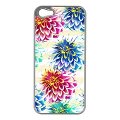 Colorful Dahlias Apple iPhone 5 Case (Silver)