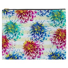 Colorful Dahlias Cosmetic Bag (xxxl)  by DanaeStudio