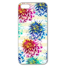 Colorful Dahlias Apple Seamless Iphone 5 Case (clear) by DanaeStudio