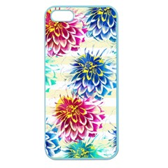 Colorful Dahlias Apple Seamless Iphone 5 Case (color) by DanaeStudio