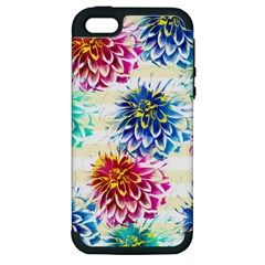 Colorful Dahlias Apple iPhone 5 Hardshell Case (PC+Silicone)