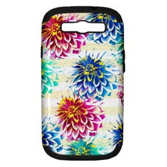 Colorful Dahlias Samsung Galaxy S Iii Hardshell Case (pc+silicone) by DanaeStudio