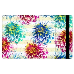 Colorful Dahlias Apple iPad 3/4 Flip Case