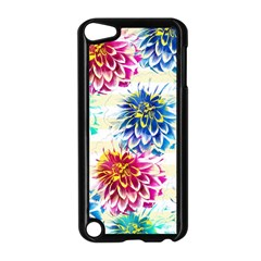 Colorful Dahlias Apple Ipod Touch 5 Case (black) by DanaeStudio