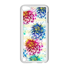 Colorful Dahlias Apple Ipod Touch 5 Case (white) by DanaeStudio