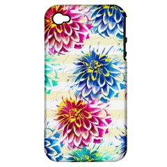 Colorful Dahlias Apple iPhone 4/4S Hardshell Case (PC+Silicone)